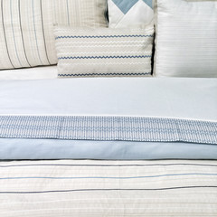 Elegant blue bed linen