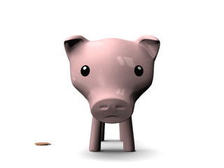 Tirelire Cochon Maigre - crise financière