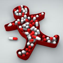 Persona sagoma depressione insonnia farmaci pillole