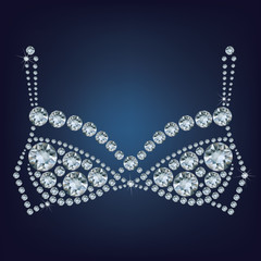 shiny bra made up a lot of diamonds