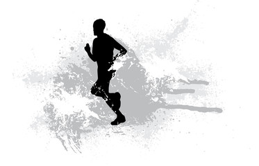 Jogger. Vector illustration.