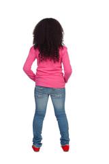 African Girl back