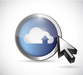 cloud computing button illustration design