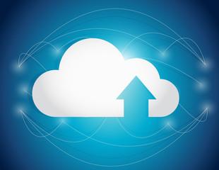 cloud computing lines connection illustration