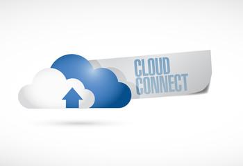 cloud connect message illustration design