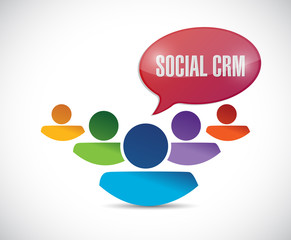 people and social crm message illustration design