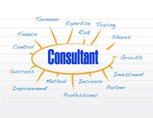 consultant business model illustration design