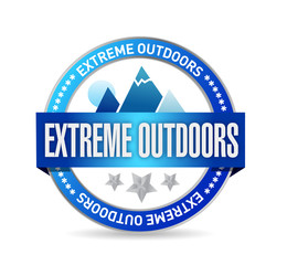 extreme outdoors seal illustration design
