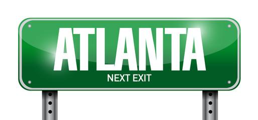 atlanta street sign illustration design