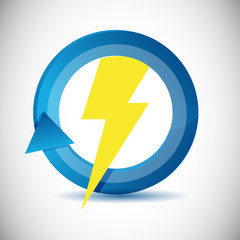 lightning weather icon cycle illustration design