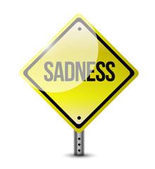 sadness warning signpost