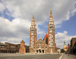 Votive church in Szeged. Hungary