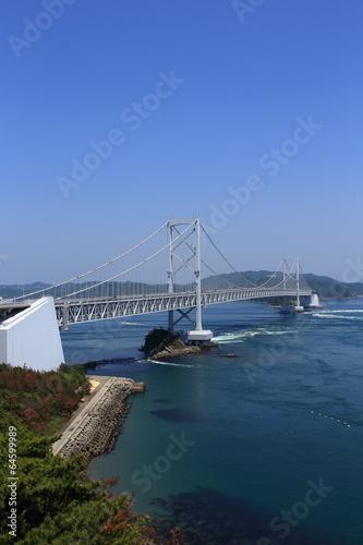 Poster Onaruto Bridge in Tokushima, Japan