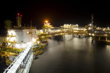 Gas or flare burn on offshore platform