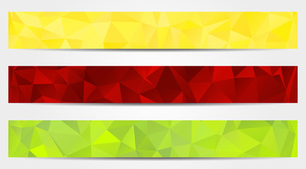 3 abstract banners collection