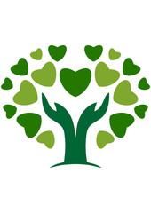 Hand Natural tree Love