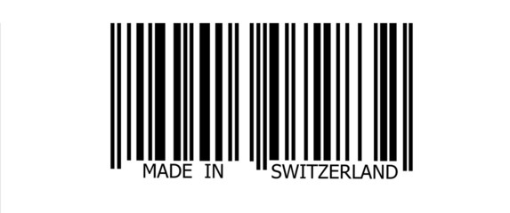 Made in Switzerland on barcode
