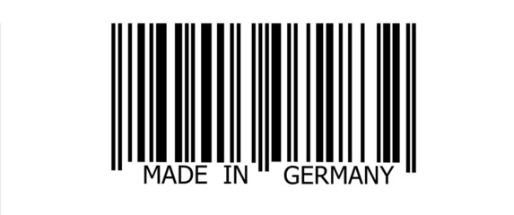 Made in Germany on barcode