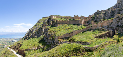 Acrocorinth fortress, Peloponnese, Greece