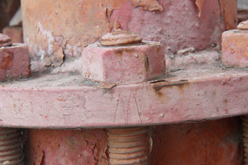 Rusty bolt with nut