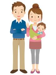 赤ちゃんのいる家族