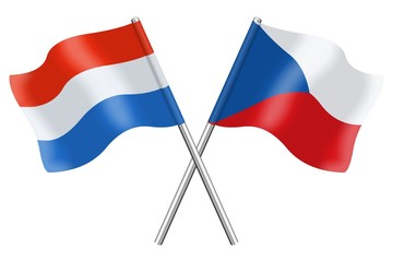 Flags : Luxembourg and Czech Republic