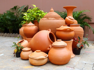 Traditional pottery gardening