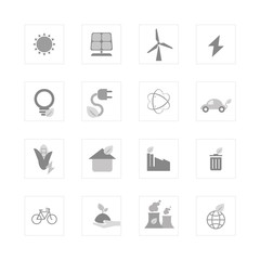 Eco energy icon set.