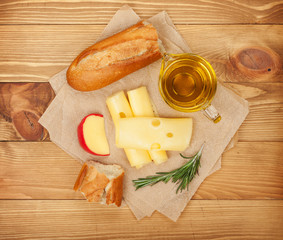 Cheese, bread and spices