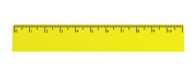 realistic 3d render of stationery tool - ruler