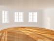 Empty room with bay window