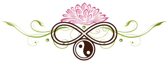Lotus, Seerose, Yin Yang