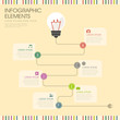 bulb and wire infographics design