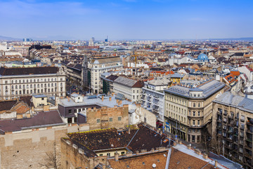 Budapest, Hungary. View of the city from the Basilica of St. Ste