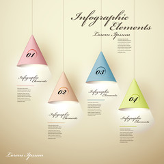 3d luminous chandelier infographic elements