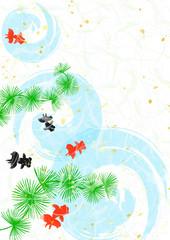 金魚 和紙風