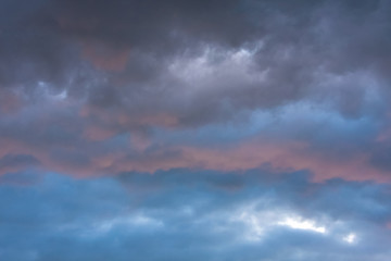 Stormy clouds in dramatic sky