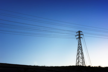 High voltage transmission tower