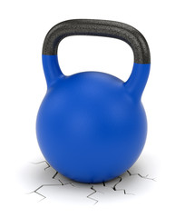Kettle bell weight and ground crack
