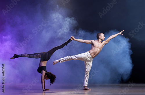 Foto op Canvas Dance School Contemporary Dance