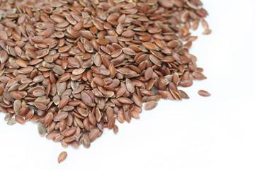 semi di lino_ sfondo bianco