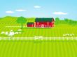 Farm mit Schafen