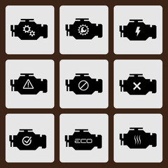 Check Engine Icon Set