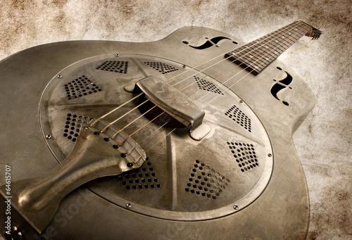 vintage blues guitar - 64615707