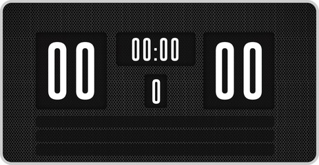 Black scoreboard with no score