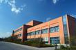 Leinwandbild Motiv modernes Fabrikgebäude // modern factory building