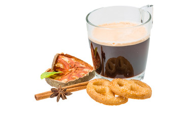 Dutch cookies with coffee