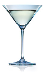 Martini glass isolated on white. With clipping path