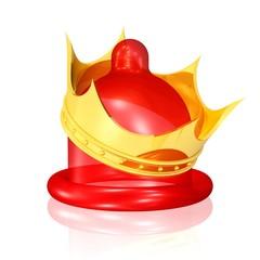 Kondom mit Krone