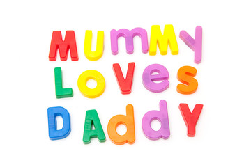 Mummy loves Daddy